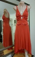 Seduce viscose jersey cocktail dress.Sz6/XS.Stretchy.Beaded detail.Lined.VGC