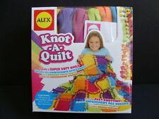 NEW ALEX Knot-A-Quilt Craft Kit Fleece Blanket Knot A Quilt No Sewing Sew Kids