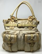 EUC! Authentic Coach Weekender Canvas Tote Leather Super Clean! No K0893-13224