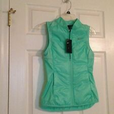 NWT NIKE WOMEN'S RUNNING POLYFILL VEST GREEN GLOW 689256 REFLECTIVE XS $80