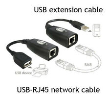 2Pc Dual-handed USB UTP Extender Extension Over Single RJ45 Ethernet CAT5e Cable