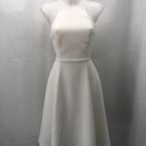 Black Halo White Sleeveless Dress 8
