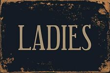 "Ladies Room Restroom 8"" x 12"" Vintage Aluminum Retro Metal Sign VS490"