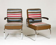 Pair of Art Deco Springer Chairs designed by Gilbert Rohde for Troy Sunshade Co.
