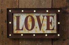 Rustic new LOVE Led Metal Wall Sign