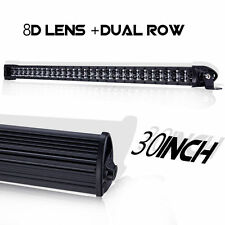 Super Slim Light Bar 30 inch LED Dual Row Work Lamp Spot Beam SUV JEEP 300W 12V