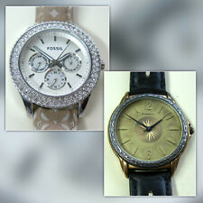 Lot of 2 Nice Fossil Women's Watches - Stella ES-3053, ET-7829