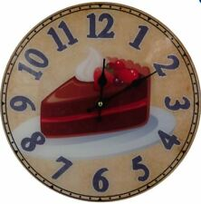 Decorative Fine Glass Wall Clock_Cake