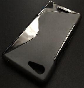 For Sony Xperia E3 S Line Silicone TPU Gel Skin Case - Anti-Slip Grip