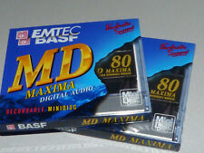 "2x EMTEC / BASF MD-80  Maxima  - MiniDisc - ""NEU in OVP "" -  Sealed and unused !"