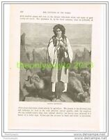 ALBANIAN SHEPERDESS, ALBANIA, Book Illustration c1890