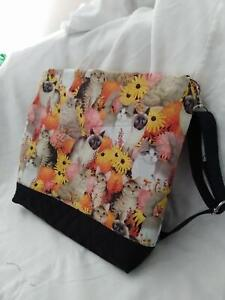 Cat's Quilted Crossbody Bag