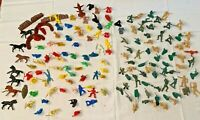 Mixed Lot of Vintage Plastic Soldiers and Knights & Horses