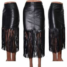 Leather Party Straight, Pencil Regular Size Skirts for Women