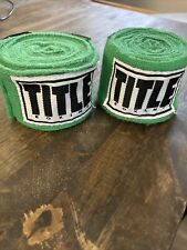 Title Boxing Traditional Weave Handwraps-Green