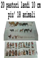 20 pastori landi 10 cm piu 18 animali moranduzzo presepe crib shepherds