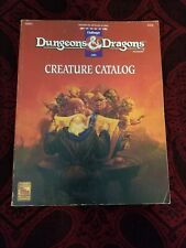 Dungeons and Dragons Creature Catalog - TSR