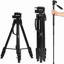 Universal Professional Portable Travel Tripod Monopod for DSLR Camera Camcorder