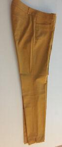 Banana Republic Martin Fit Womens Mustard Yellow Cropped Trousers UK 10