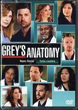 GREY'S ANATOMY STAGIONE 9 - COFANETTO 6 DVD NUOVO!