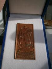 Gedenkplakette Ehrenmal Berlin Treptow - reines Kupfer in Präsentationsbox