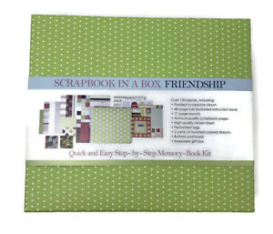 Scrapbook in a Box Friendship 150 plus pieces Memory Book Craft Kit