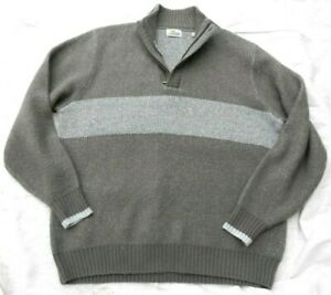New BOB TIMBERLAKE Men's Grey 1/4 Zip wool blend Sweater Top size XL