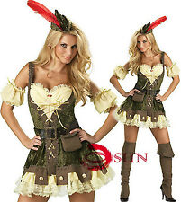 Ladies Pirate Wench Caribbean Buccaneer Gladiator Fancy Dress Party Costume