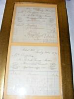 2 ANTIQUE 19THC RECEIPT PHARMACEUTICAL CHEMISTS FOR LAUDUNUM & MIXTURE !!!