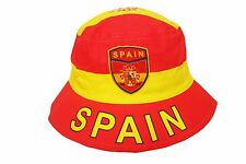 Spain Country Flag Bucket Hat . Adult Size : 7 3/8 . New