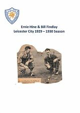 E HINE/B FINDLAY LEICESTER CITY EXTREMELY RARE ORIGINAL SIGNED NEWSPAPER CUTTING