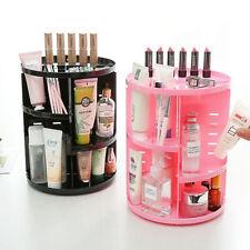 360 Degree Rotating Cosmetic Makeup Organizer Storage Box Lipstick Shelf Display