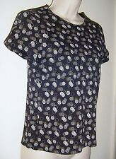 """Croft & Barrow Petite Black & Brown Pull Over Top PS Bust 32"""" Length 21 1/2"""""""