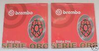 BREMBO COPPIA DISCHI FRENO ANTERIORE SERIE ORO BMW S 1000 RR  09 10 11 12 13
