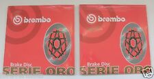 BREMBO COPPIA DISCHI FRENO ANTERIORE SERIE ORO PIAGGIO X9 500 2001 2002