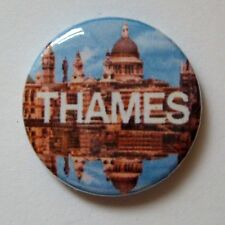 "Thames Television Logo - 25mm 1"" Button Badge , Retro 70's 80's"