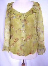 Geblümte Damenblusen, - tops & -shirts mit Rüschen aus Polyester im Passform