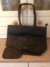 LA REDOUTE noir sac bandoulière correspondant à votre sac à main/make up sac paillettes bordure bnwt