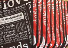 LOT/10 LARGE Lululemon Reusable Shopping Bags - Manifesto 9 Red 1 Black