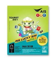 Thailand Reise Sim Card 30 GB 4G fast im ganzen Land + 15 Bhat für Telefonie