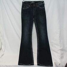 Silver Womens Juniors Jeans Blue Suki Surplus 25x32