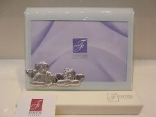 CORNICE portafoto vetro ricurvo con PUTTI ARGENTO-Frame grass recurve silver