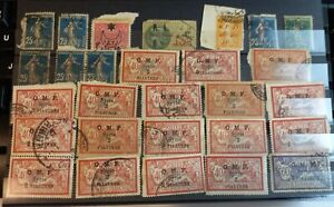 FRENCH LEVANT CILICIE SYRIA   OMF  28 STAMPS COLLECTION WITH GOOD CANCELS USED