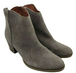 Indigo collection grey suede leather zip up ankle boots size 6.5 uk new