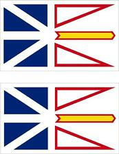 set of 2x sticker vinyl car canada outdoor moto flag Newfoundland and Labrador