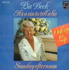 "PIA BECK – It's A Sin To Tell A Lie (1977 DUTCH KAZZ VINYL SINGLE 7"")"