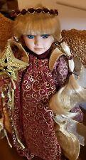 "17"" Ashley Mary Kate Olsen Christmas Angel Doll Tree Topper W/ Stand Full House"