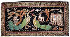 orient Asien  Bild Kalagas Wandbehang wandteppich 146x73 cm Burma pfau  Nr-1