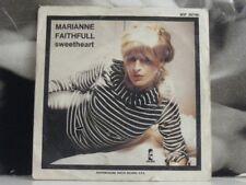 """MARIANNE FAITHFULL - SWEETHEART / STRANGE ONE  - 7"""" VINYL VG 45 GIRI"""