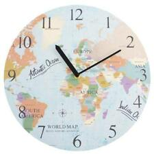 Vintage Style World Map Clock 33cm CL_29835
